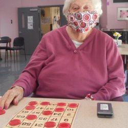 Mary having fun with Bingo