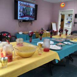 Food table setting