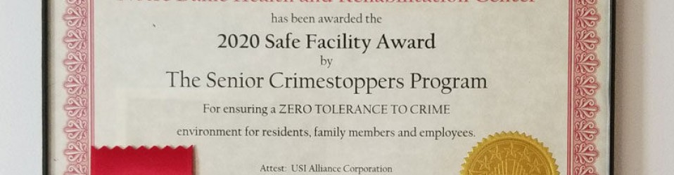 Notre Dame Rehab participates successfully in another year of Crime Stopping