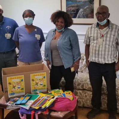 Notre Dame Rehab Donates School Supplies
